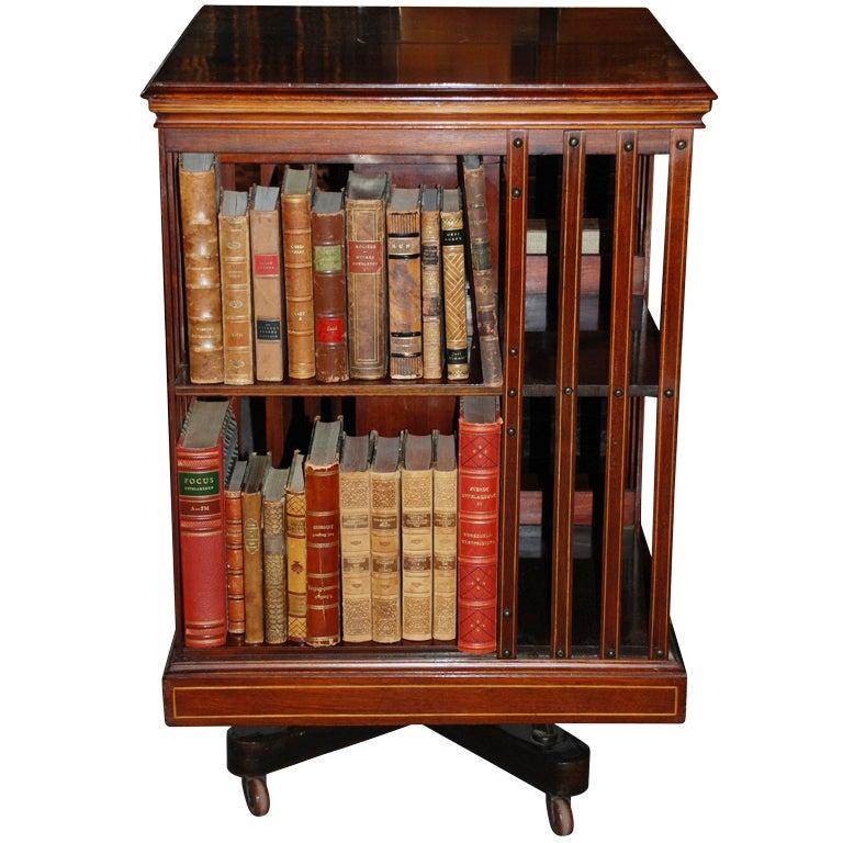 Antique English Revolving Bookcase C 1879 80 At 1stdibs
