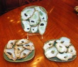 Hand made stoneware oyster plates by local New Orleans artist image 2