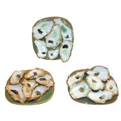 Hand made stoneware oyster plates by local New Orleans artist