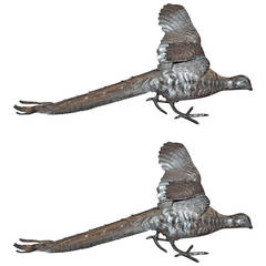 Antique Silver Pheasants