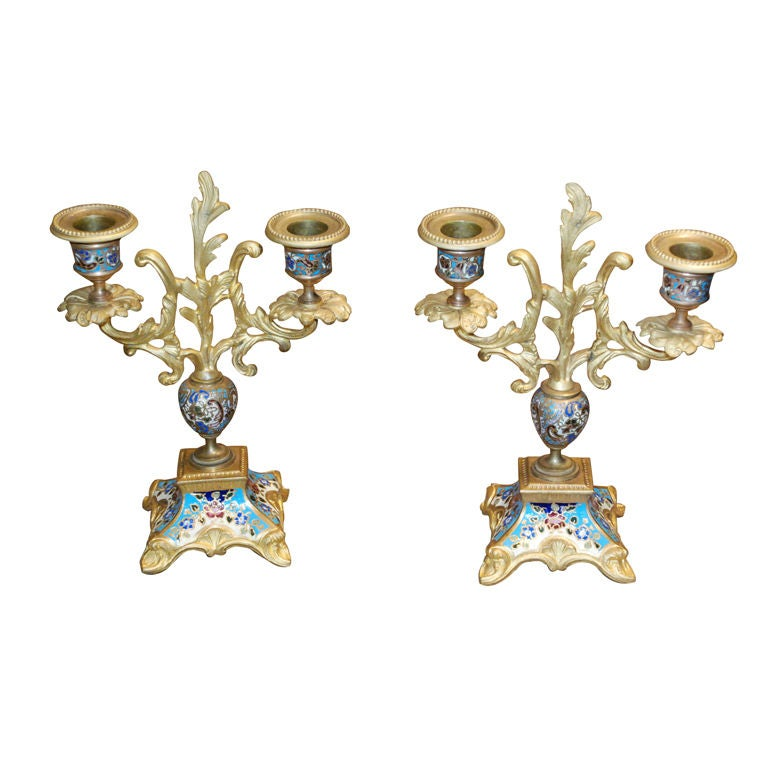 Pair of Antique French Candelabra
