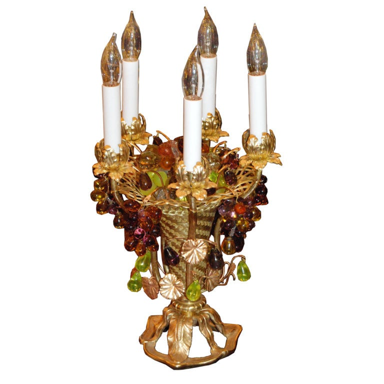 Antique Fruit Basket Lamp 1