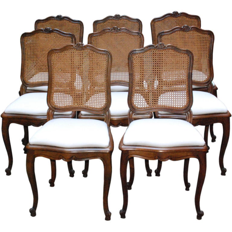 Set Of Antique Dining Chairs At 1stdibs