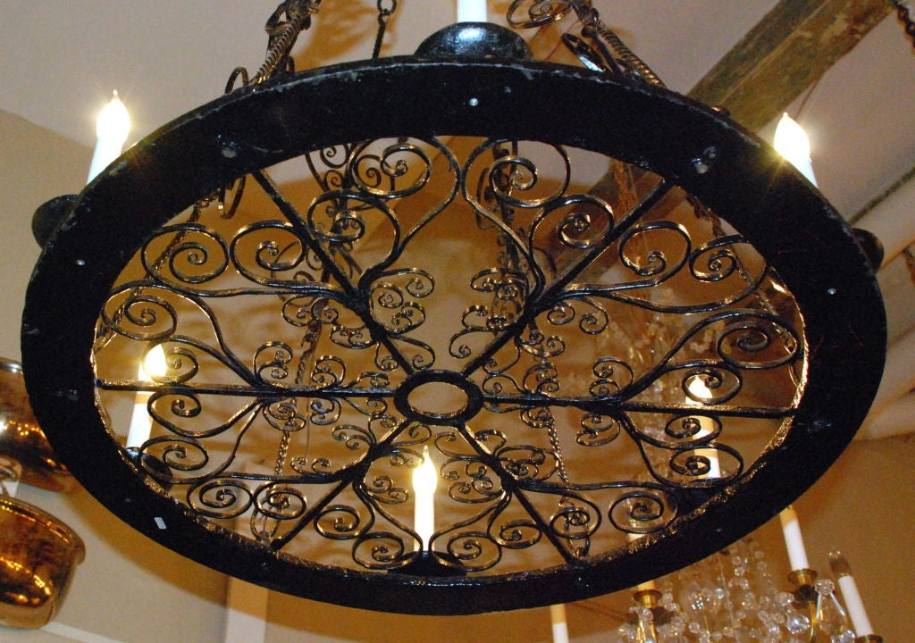 Antique Wrought Iron Chandelier At 1stdibs
