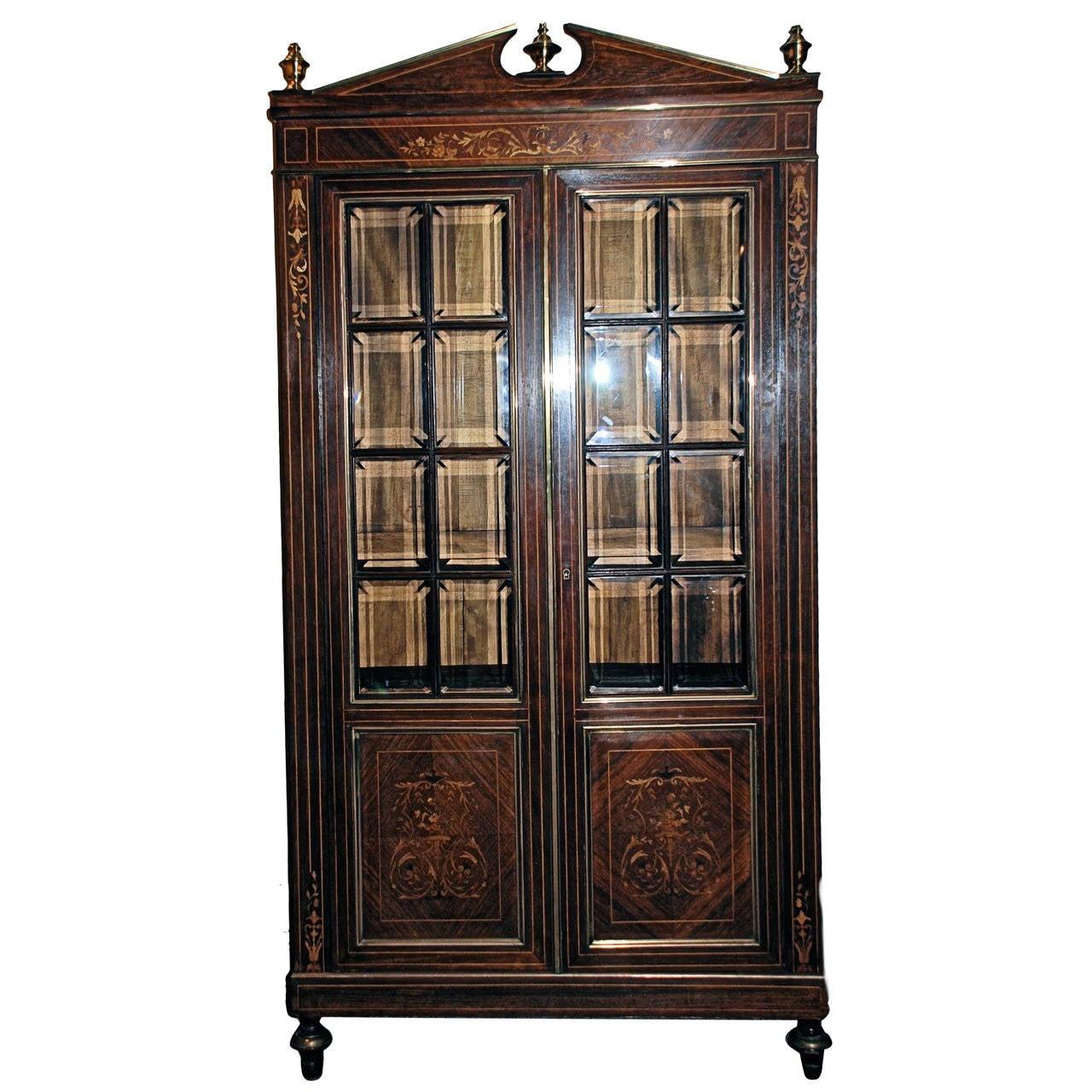 antique vitrine cabinet for sale at 1stdibs. Black Bedroom Furniture Sets. Home Design Ideas