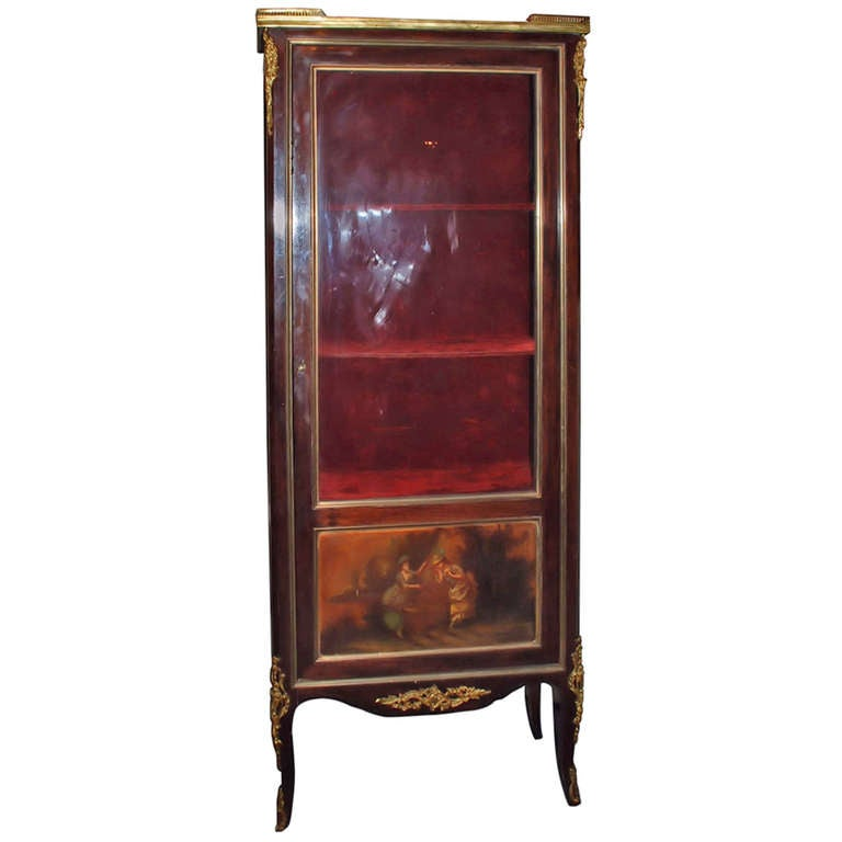 Antique vitrine cabinet for sale at 1stdibs for Sideboard vitrine