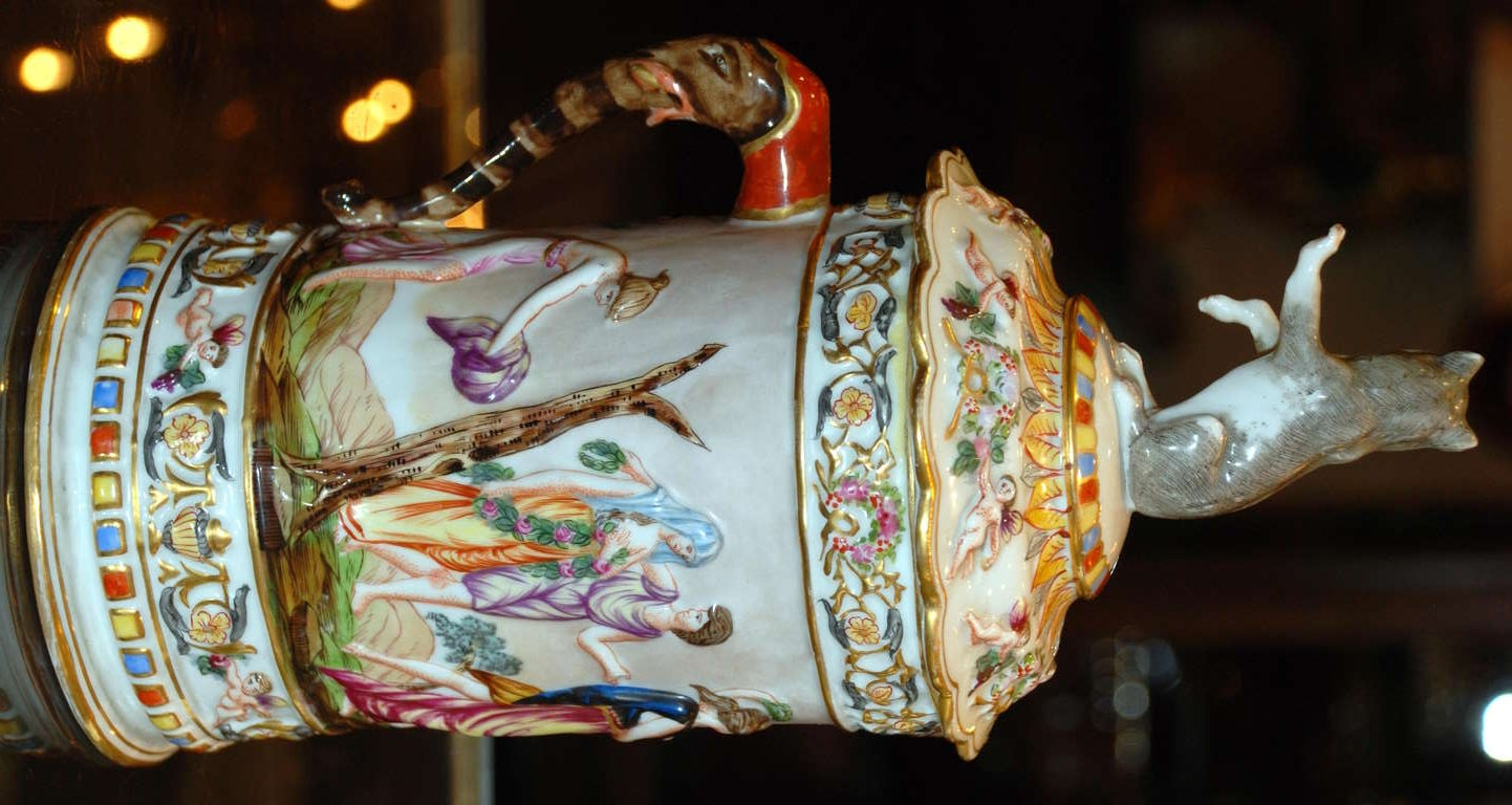 Antique Mug and Cover, c.1890 In Excellent Condition For Sale In New Orleans, LA