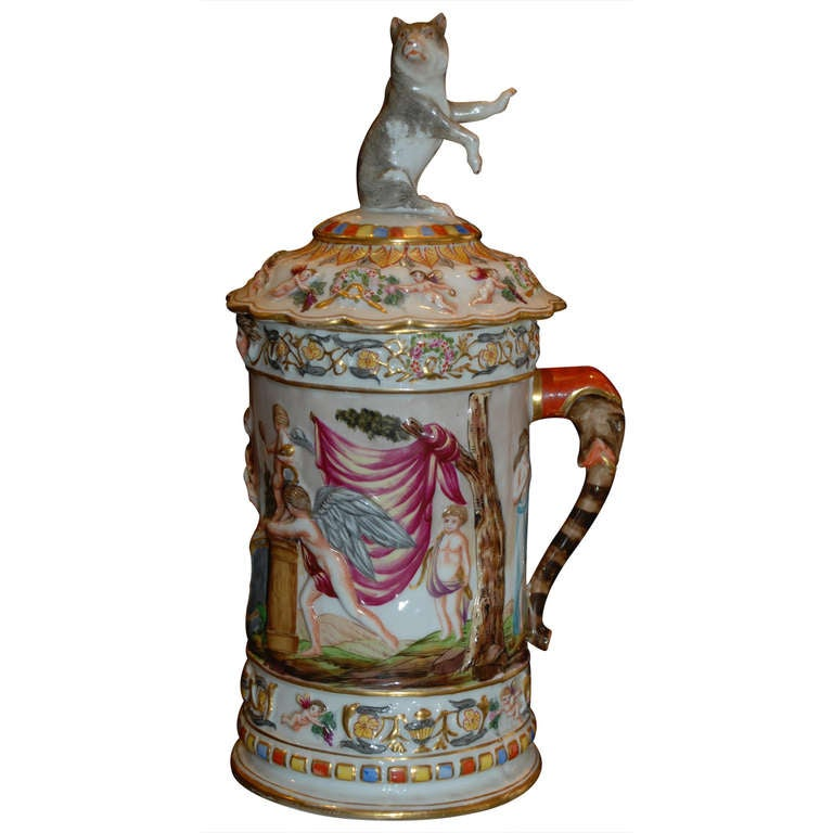 Antique Mug and Cover, c.1890 For Sale