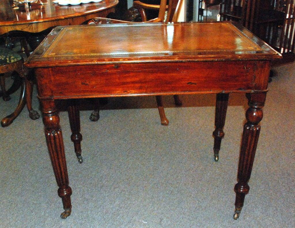 Antique English Victorian Mahogany Writing Desk 1
