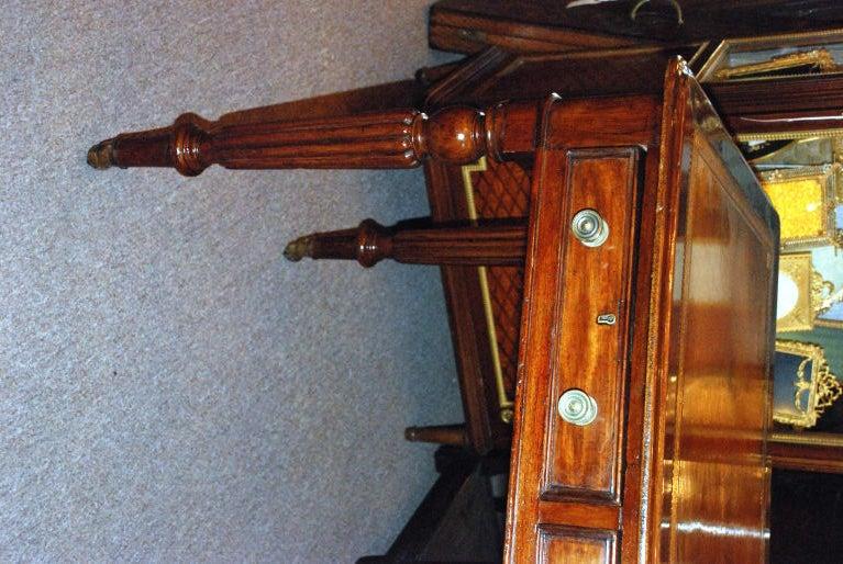 Antique English Victorian Mahogany Writing Desk 2