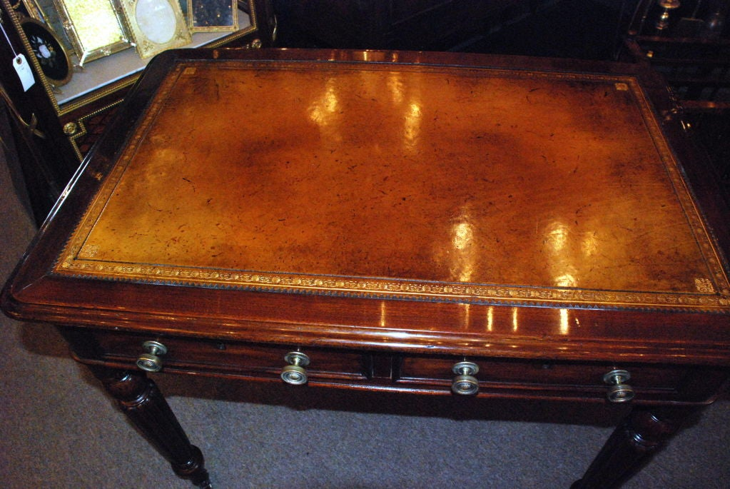 Antique English Victorian Mahogany Writing Desk 3