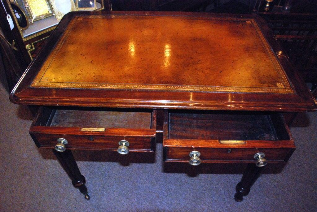 Antique English Victorian Mahogany Writing Desk 4