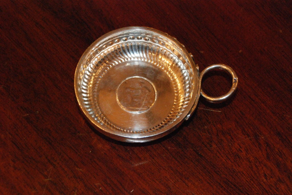 Sterling Silver Antique French Wine Taster For Sale