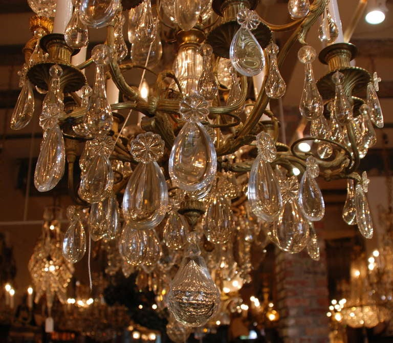 Bronze Antique French Chandelier For Sale