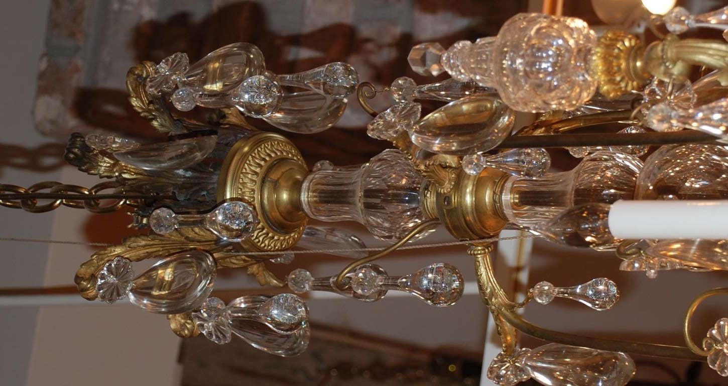 19th Century Antique French Chandelier For Sale