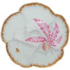 Antique Oyster Plate