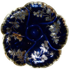 CH. Haviland Limoges Hand Painted Oyster Plate