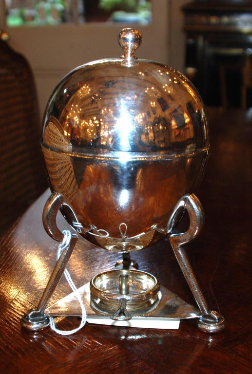 Antique English silver plated egg coddler
