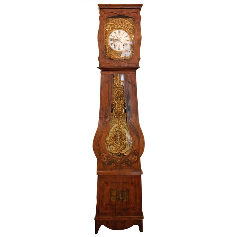 French Mobier Grandfather Clock For Sale at 1stdibs