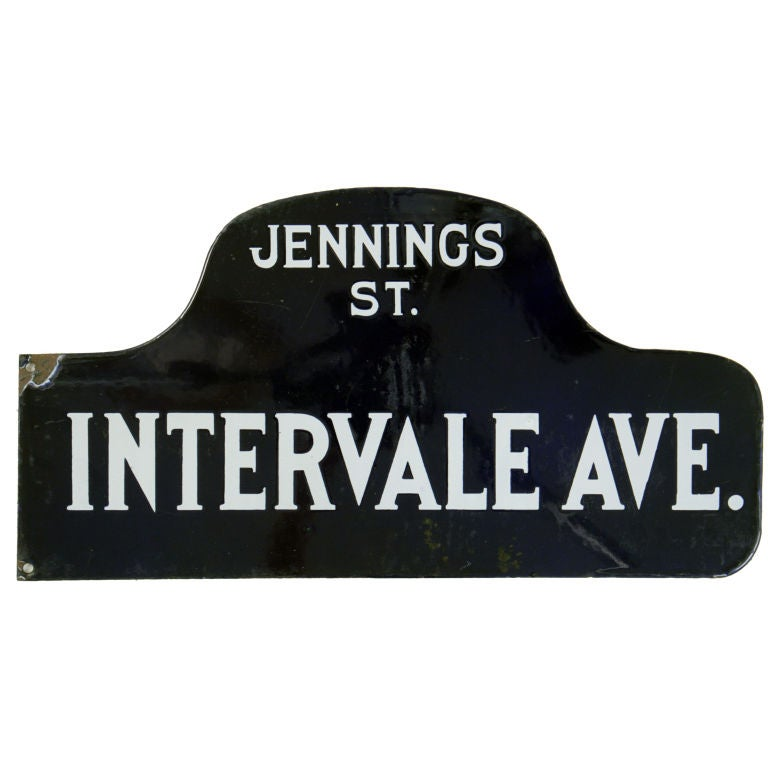 Humpback Street Sign Jennings St Intervale Avenue At