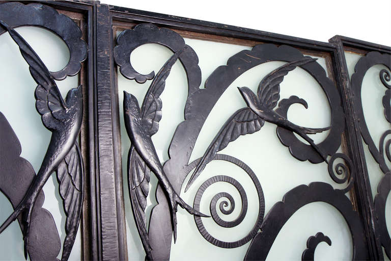 Art Deco Entrance Doors And Side Panels For Sale At 1stdibs