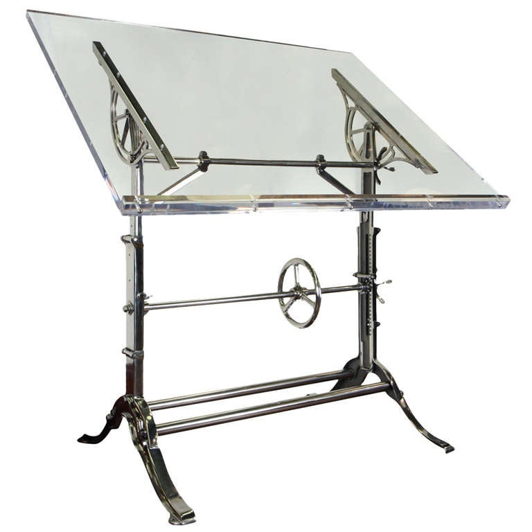 Mechanical Industrital Drafting Table At 1stdibs