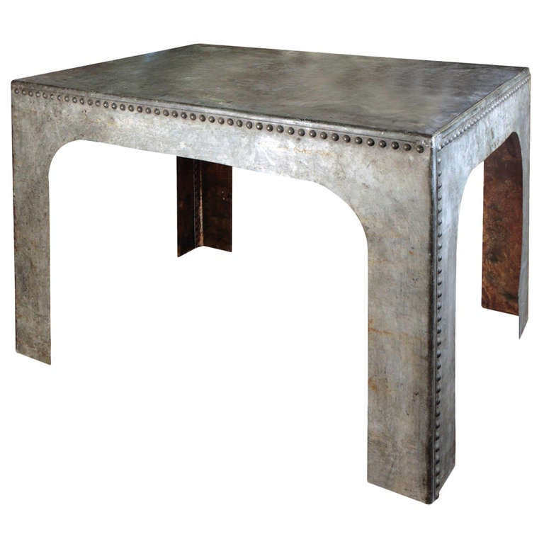 Galvanized Steel Table Large At 1stdibs
