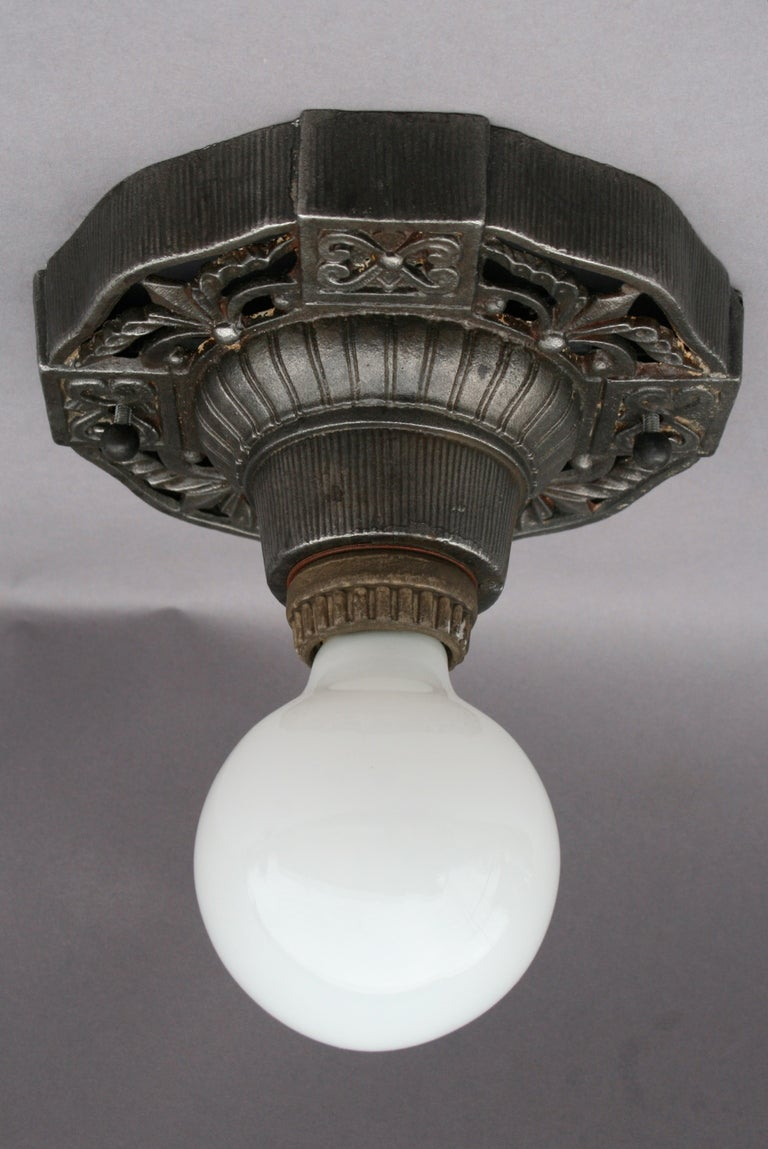 highly detailed 1920 39 s ceiling mount fixture at 1stdibs