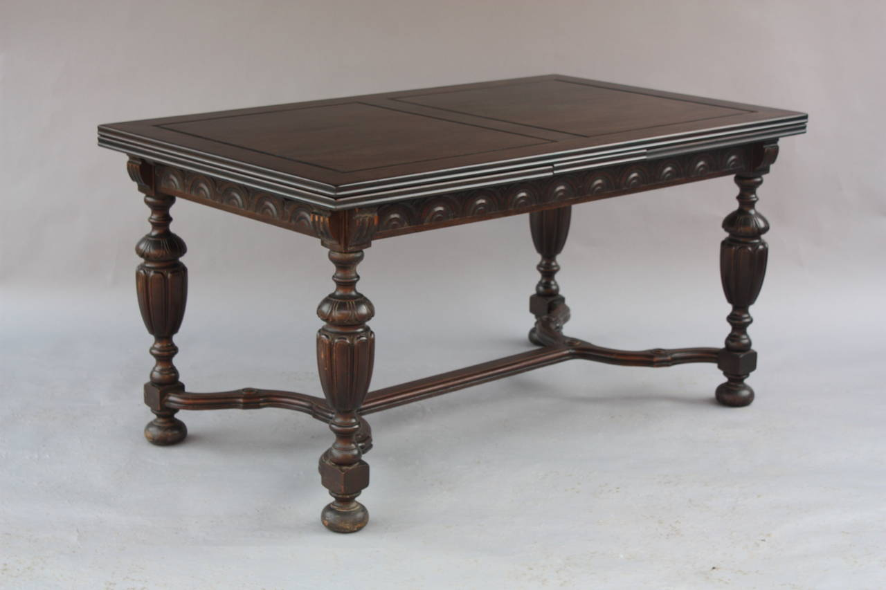 1920 39 s expandable walnut dining room table at 1stdibs