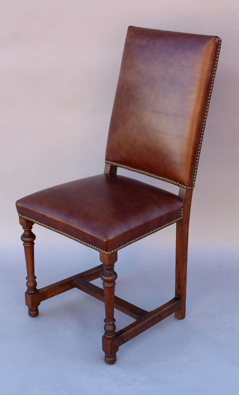 1920s tall leather side chair for sale at 1stdibs for Side chairs for sale