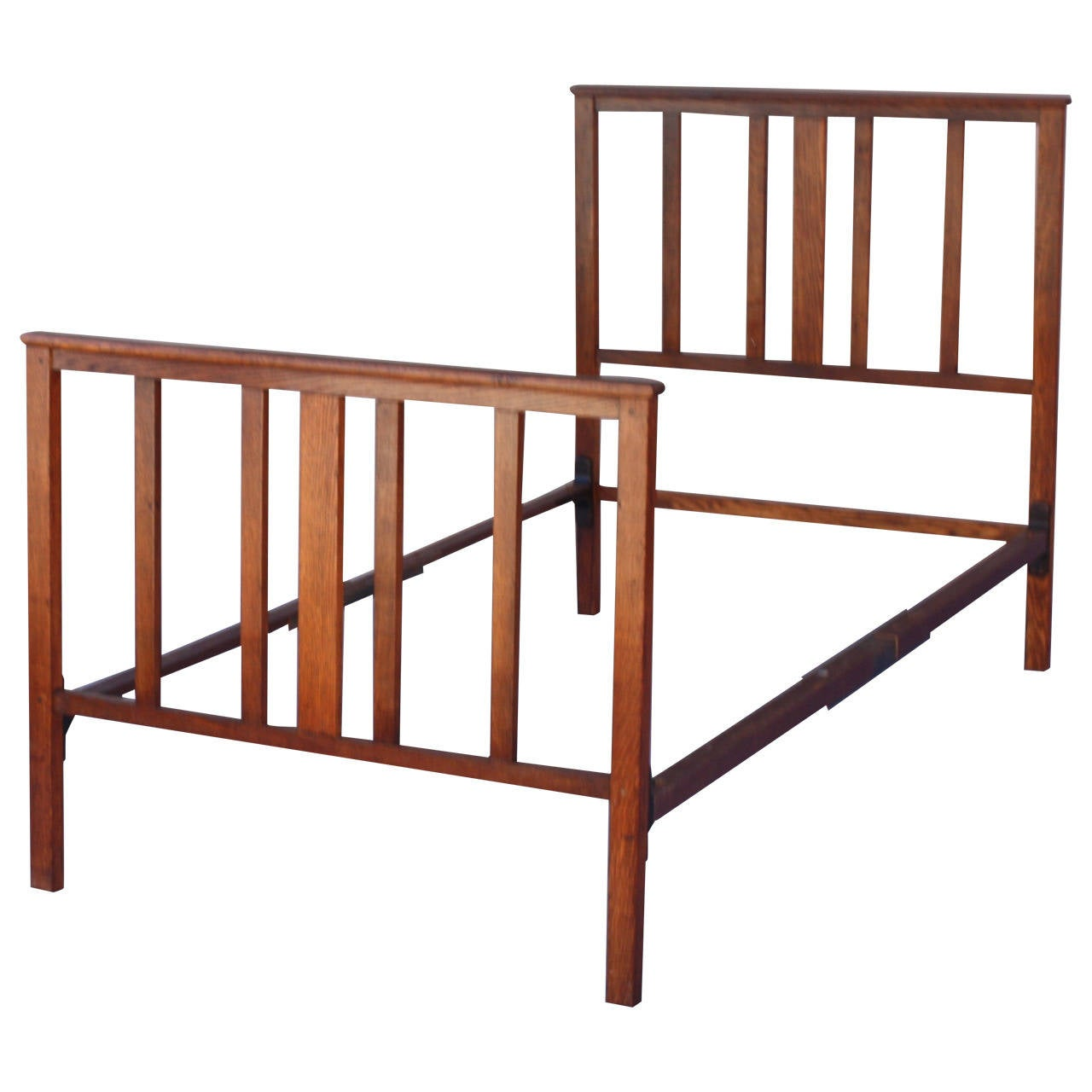 Antique arts and crafts furniture - Circa 1910 Antique Arts And Crafts Bed 1