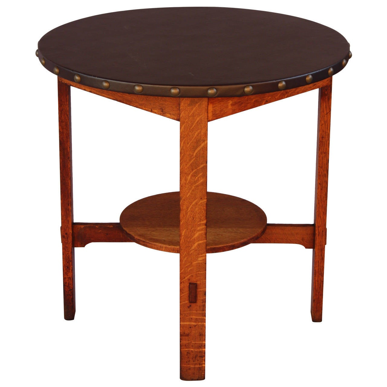 stickley brothers signed side table at 1stdibs