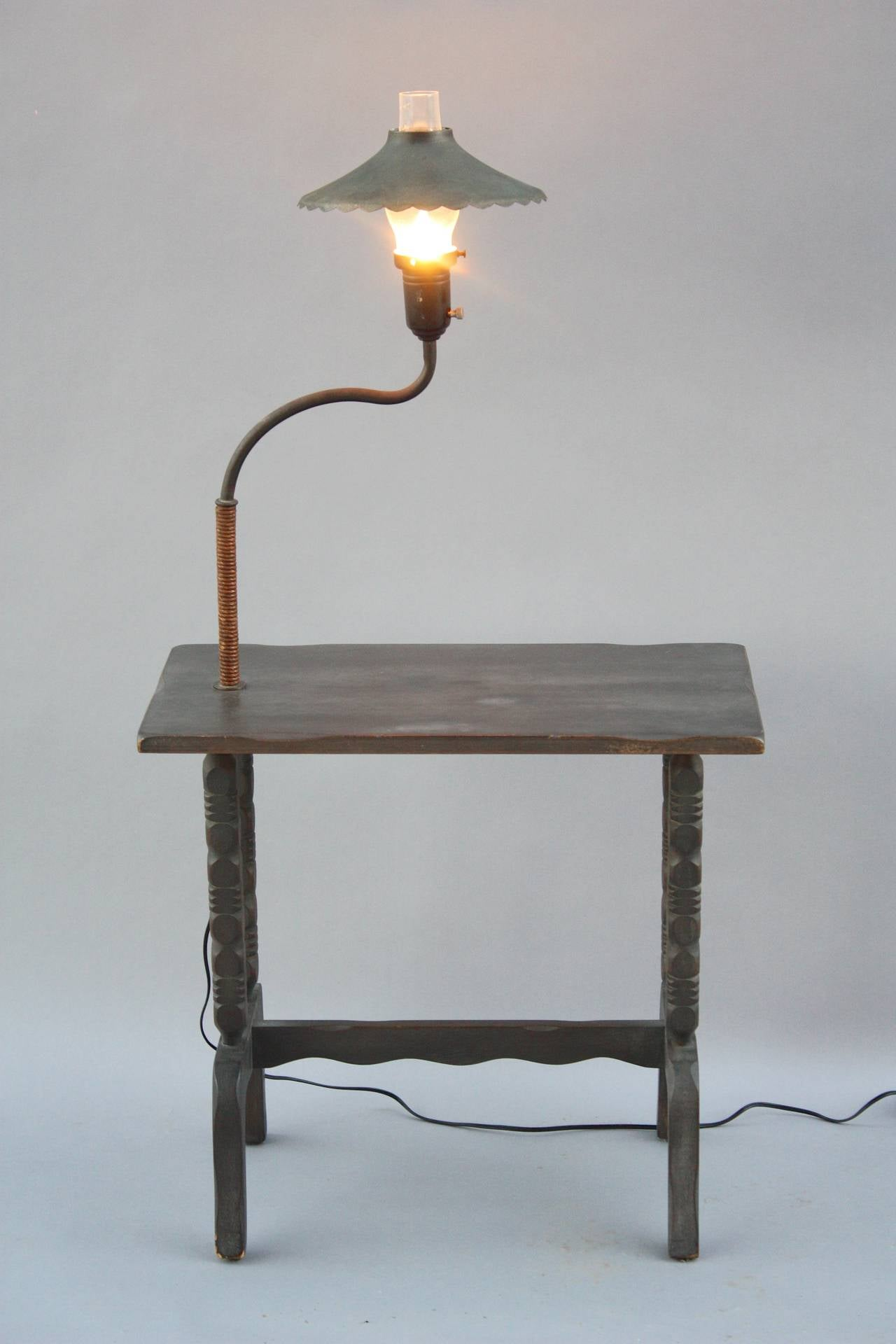 Antique Signed Monterey Table Lamp Side Table at 1stdibs
