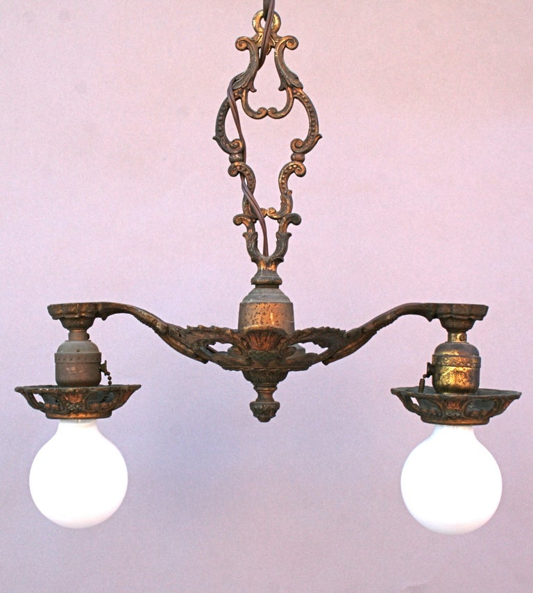 1920 39 s two light fixture with thistle motif at 1stdibs