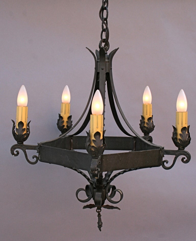 Classic spanish revival chandelier at 1stdibs for Spanish revival lighting