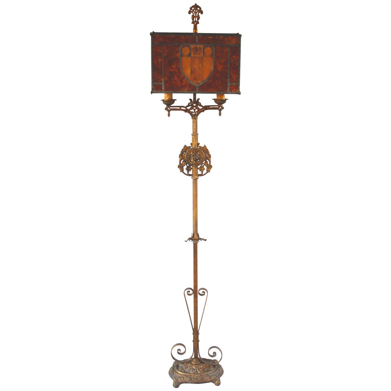 1920s beautiful tall mica floor lamp at 1stdibs for 1920 floor lamp