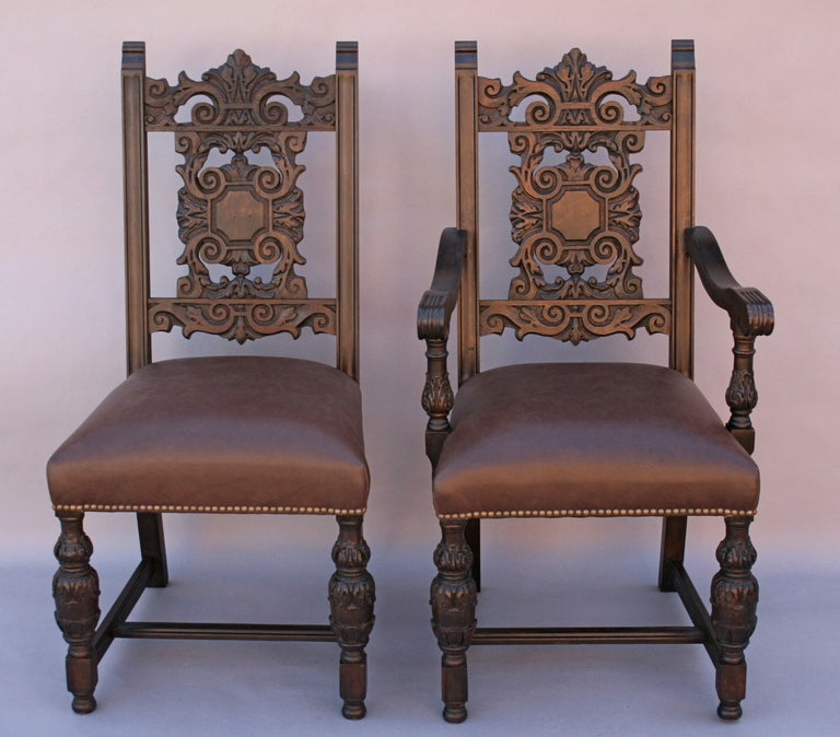 Set Of Six 1920's Spanish Revival Chairs At 1stdibs