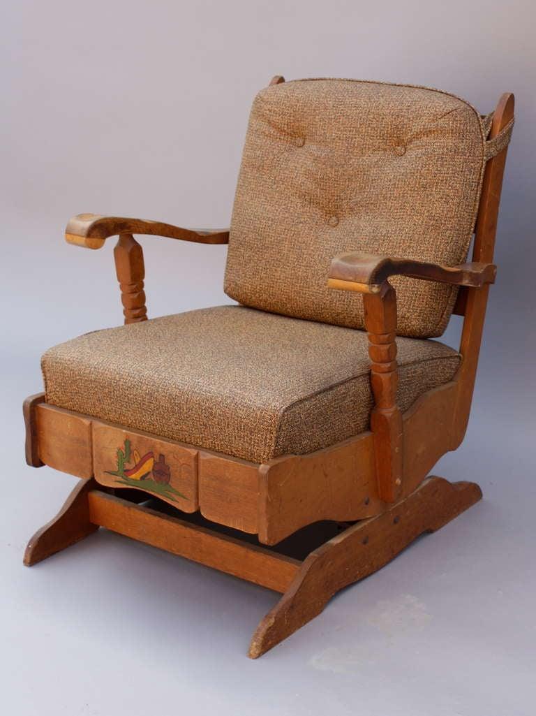 1930s Monterey Period Rocker Chair At 1stdibs