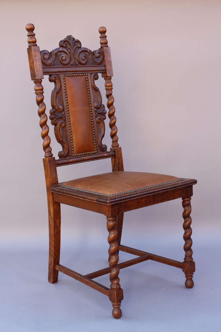 Antique Set Of 1920 S Carved 8 Chairs At 1stdibs