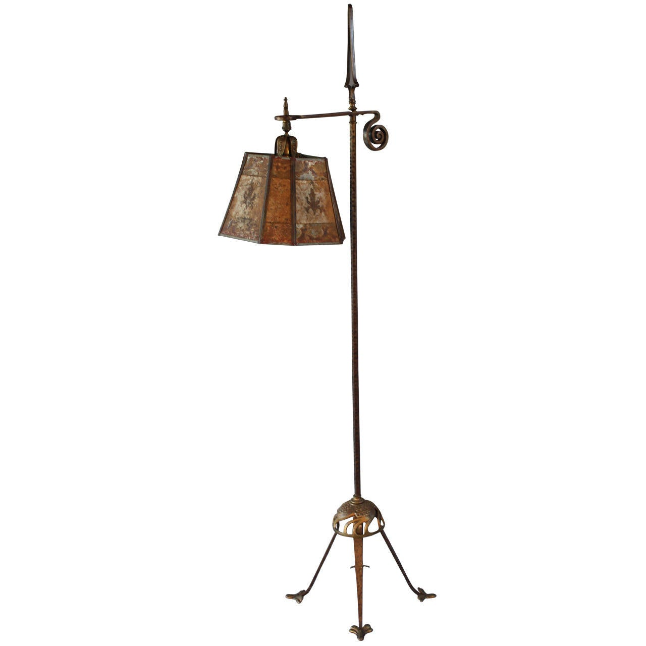 1920 39 s floor lamp in the style of oscar bach at 1stdibs for 1920s floor lamps