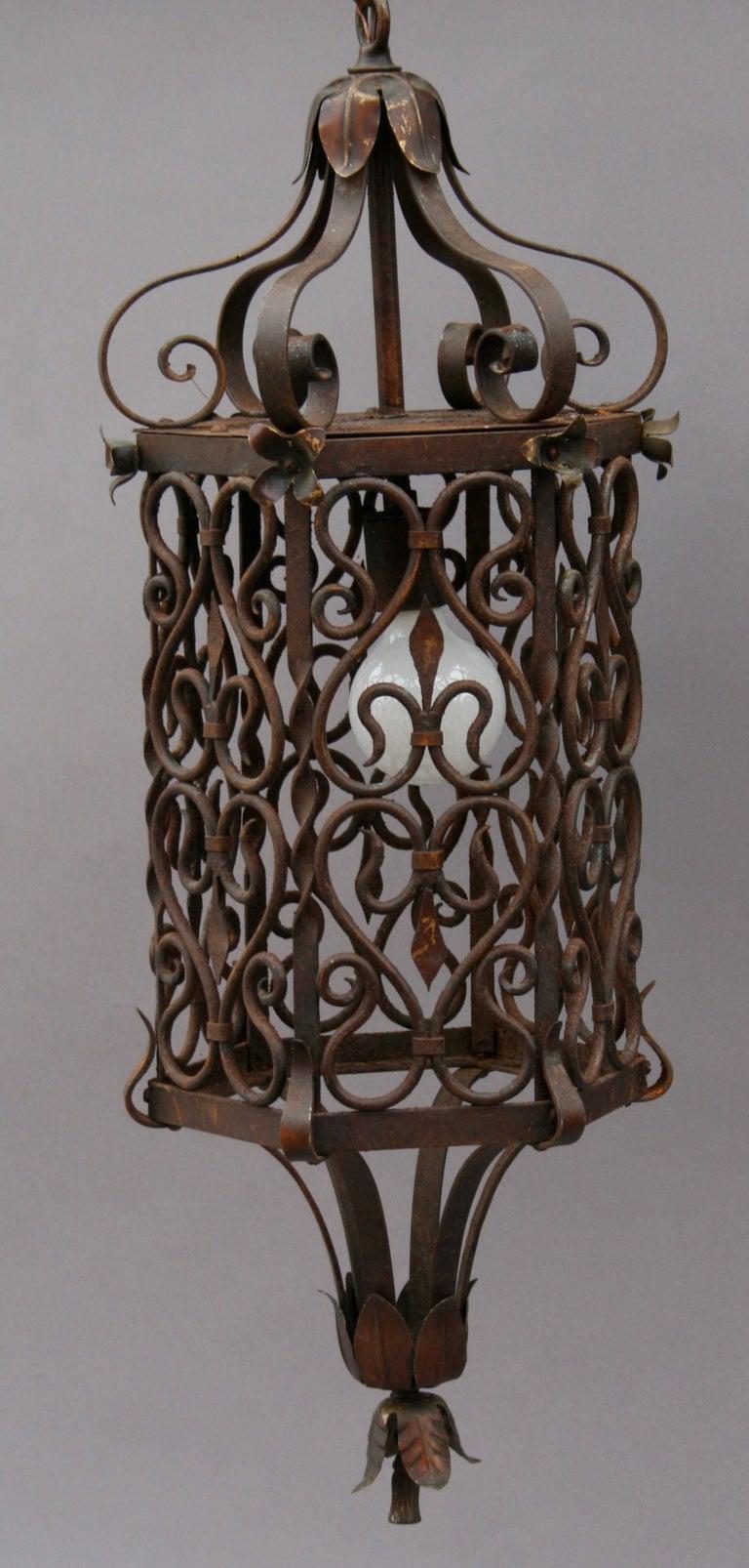wrought iron pendant at 1stdibs. Black Bedroom Furniture Sets. Home Design Ideas