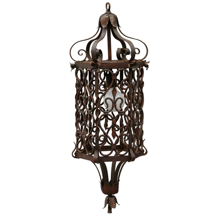 Wrought Iron Pendant At 1stdibs