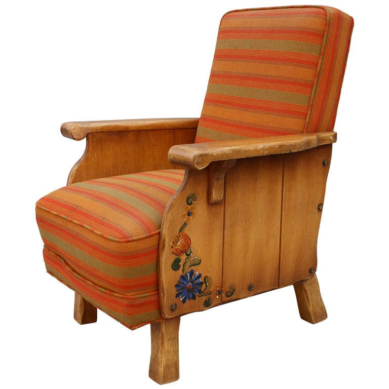 1930s Adorable Monterey Period Arm Chair at 1stdibs