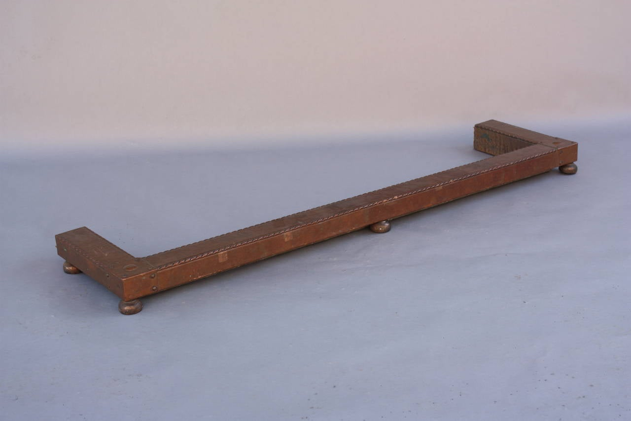 Fireplace Copper Fender Circa 1910 For Sale At 1stdibs