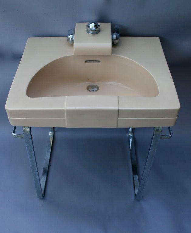 Henry Dreyfuss Neovogue Bathroom Sink By Crane At 1stdibs