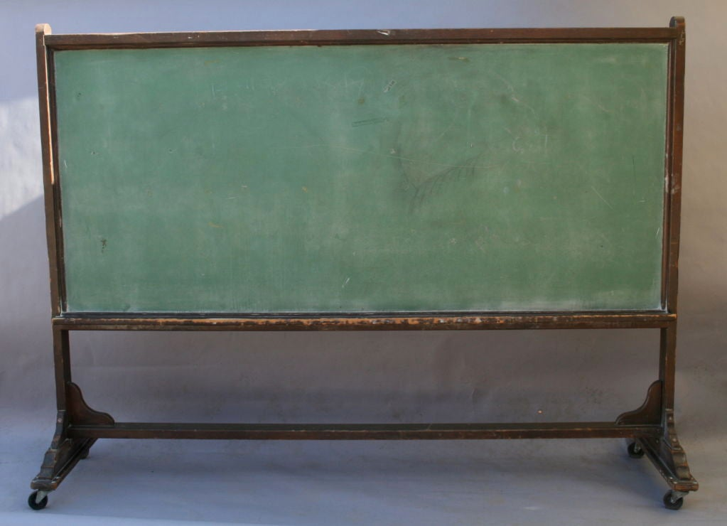 Very long wood chalkboard on wheels at 1stdibs for Where can i buy vintage furniture