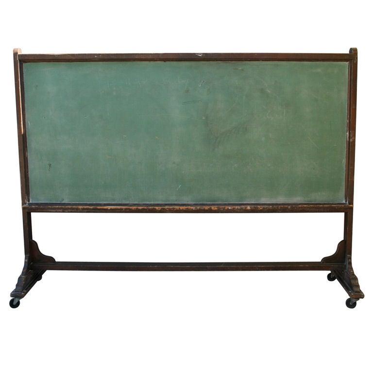 Very Long Wood Chalkboard on Wheels