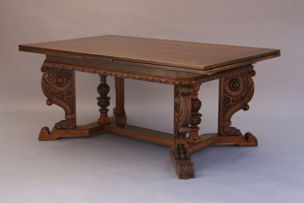 very long carved walnut dining room table at 1stdibs