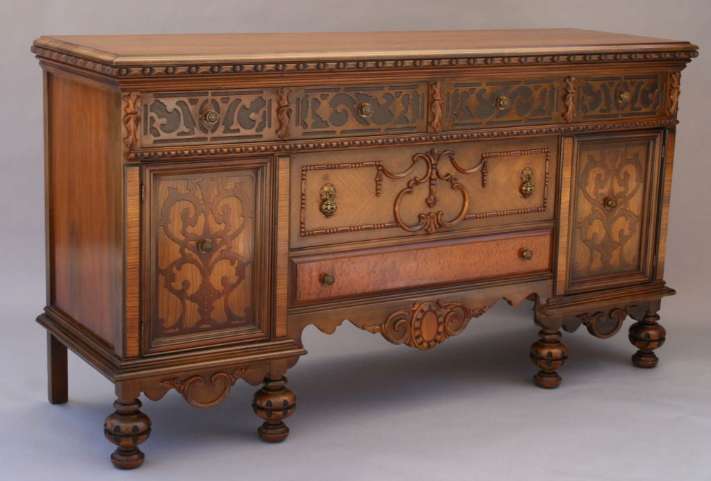 Carved 1920 39 s walnut sideboard at 1stdibs for Sideboard 2 50 m