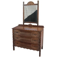 Spanish Revival Dresser and Mirror